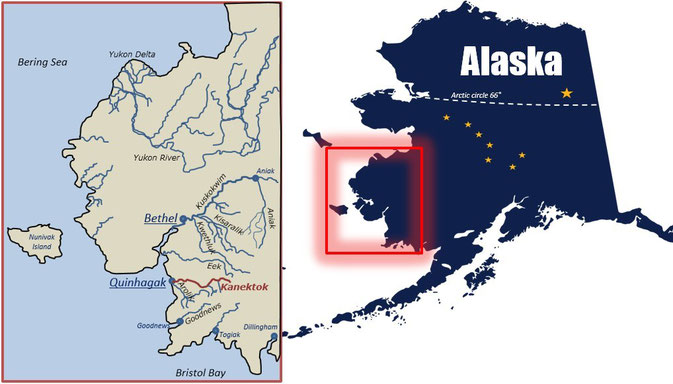 Map Kanektok River Alaska