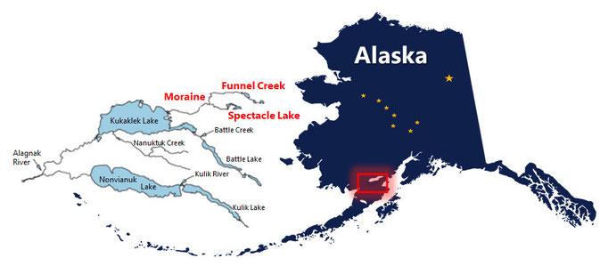 Map Moraine Funnel Creek