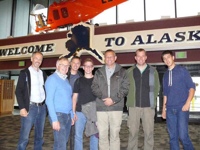 vlnr: Rudi, Hermann, Wali, Max, Udo, Tobi, Marc