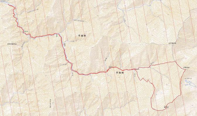 幌尻岳ルート図