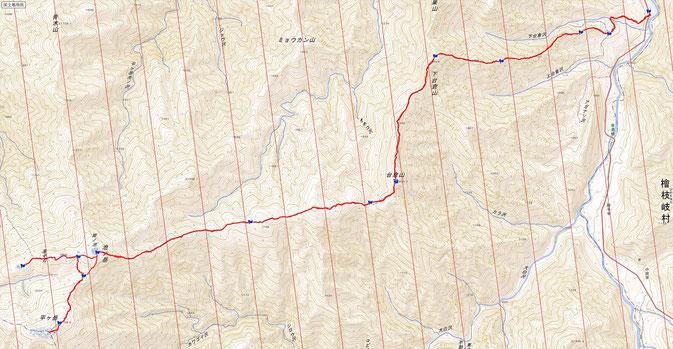 平ヶ岳ルート図