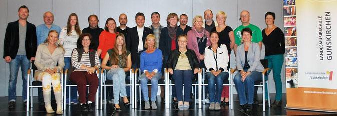 Die Lehrer der Landesmusikschule Gunskirchen im Herbst 2013.