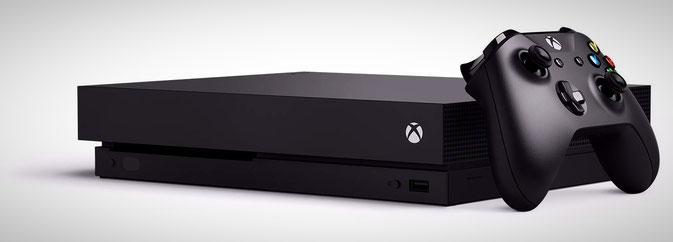 Xbox One X mit einem Controller
