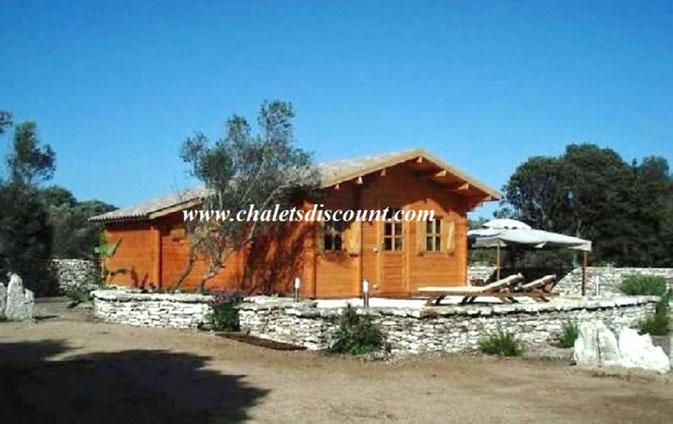 Chalet bois Lylou realiser en Corse