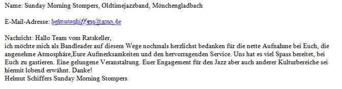 per E-Mail, Mai 2013