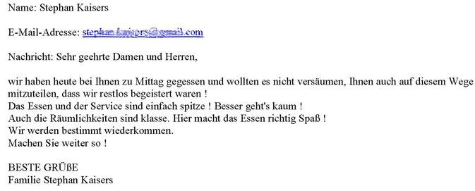 per E-Mail, Januar 2013
