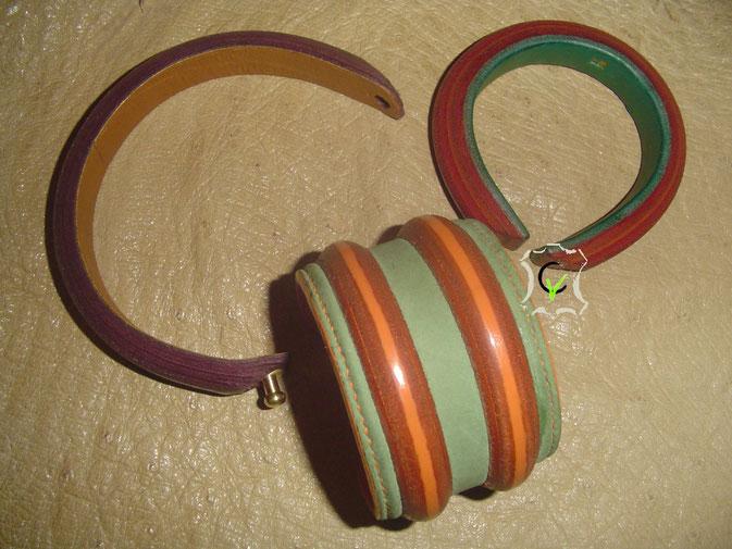 bracelets en cuir avec ou sans âme en laiton