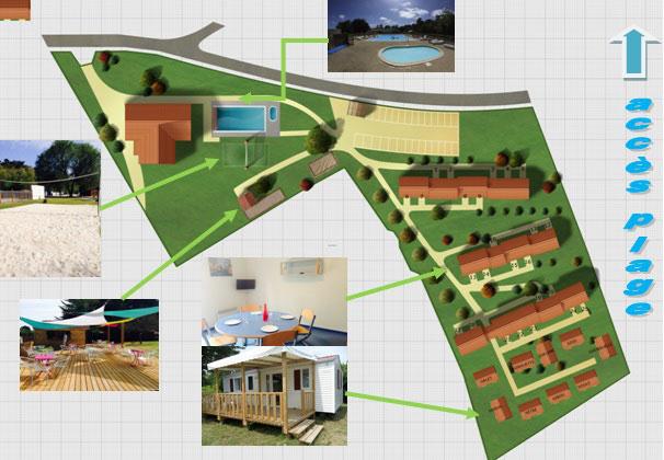 Plan du village vacances Ternelia La Caillebotière