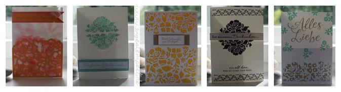 """Kartenset zum Verschenken mit dem Produktpaket """"Florale Grüße"""" - Patricia Stich 2016"""