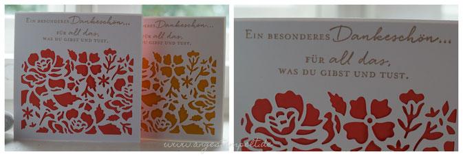 Ein besonderes Dankeschön, florale Grüße - Patricia Stich 2016