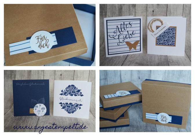 Kartenset in selbsgemachter Box - ein wunderschönes Geschenk! - Patricia Stich 2016