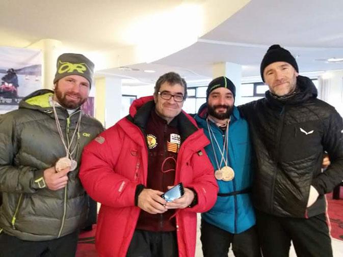 v.l.n.r. Florian ( 2ter ) - Alex ( Race-Organisator ) - Ronnie Carrara ( 3ter ) - Marco Vitto