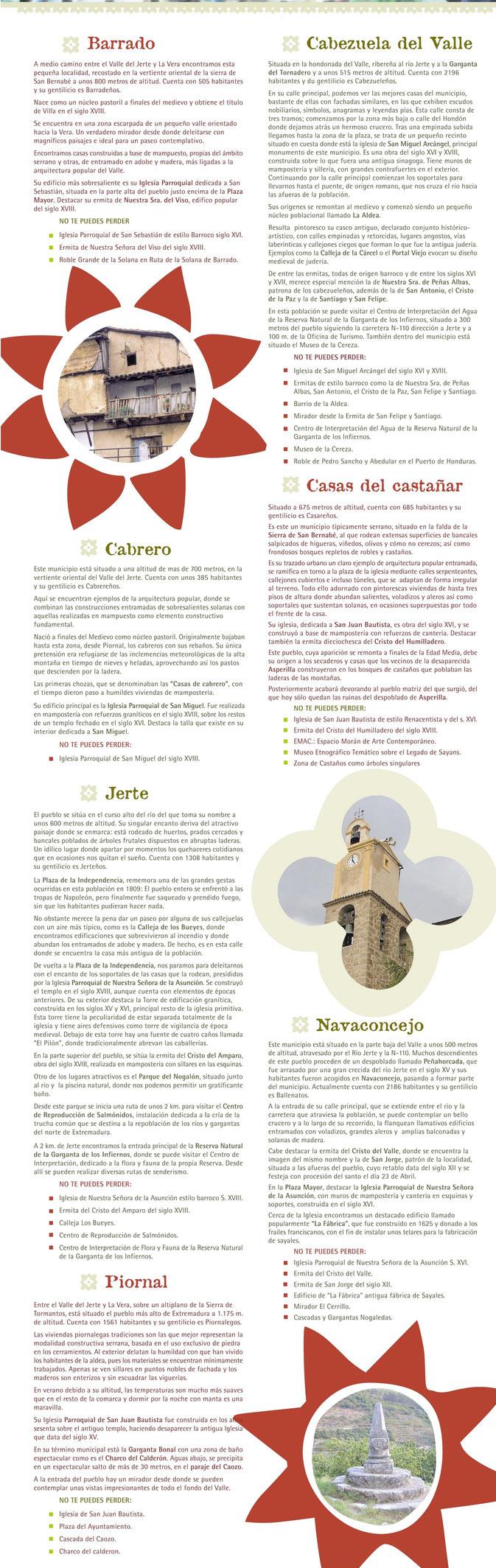 Pueblos del Valle del Jerte (1/2)