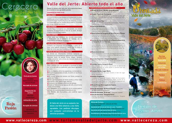 Folleto Valle del Jerte: Abierto todo el año
