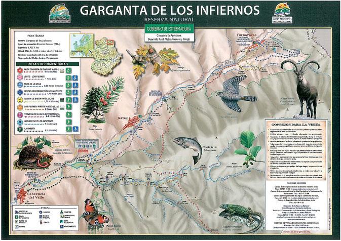 Mapa Reserva Natural Garganta de los Infiernos