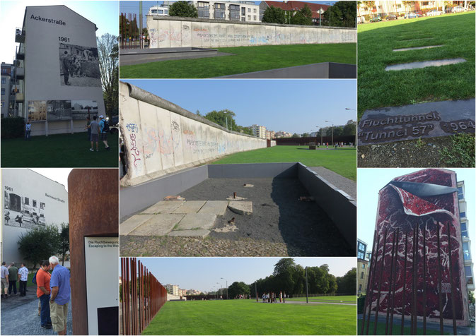An der Bernauer Strasse kann man noch gut erahnen, wie das Leben mit der Mauer war.