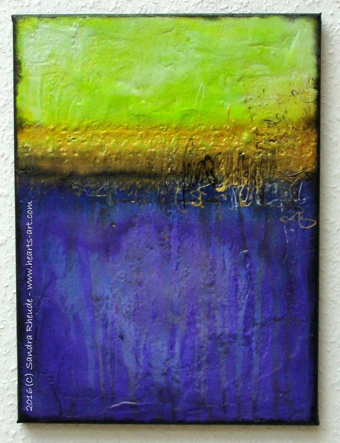 'Spring Scenery' -  2016/22 - Acryl/MixedMedia auf Leinwand - 30 x 40 cm - € 220