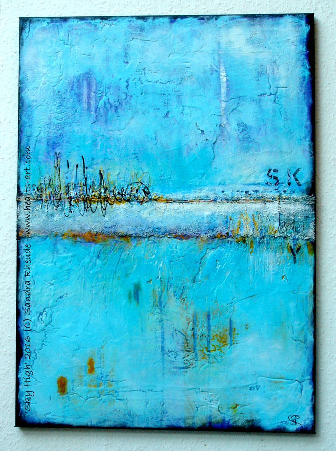 'Sky High' - 2016/42 - Acryl/MixedMedia auf Leinwand - 50 x 70 cm - € 330