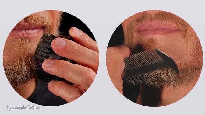 Bart bürste oder kamm, bartkamm oder bürste