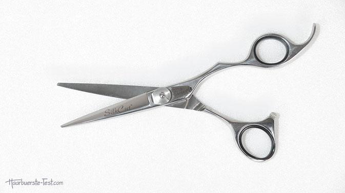 Die Olivia Garden Effilierschere gibt es auch im Set mit einer Olivia Garden Silk Cut Haarschere, die wir ebenfalls getestet haben.