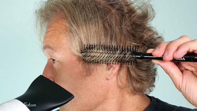 Rundbürste für kurze Haare