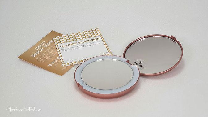 kosmetikspiegel klappbar, schminkspiegel klappbar, taschenspiegel mit 10 fach vergrößerung