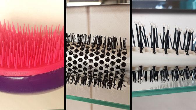 Sauber Haarbürsten, Haarbürste reinigen