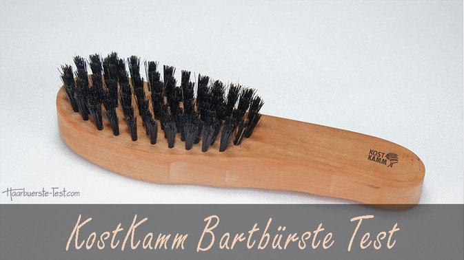KostKamm Bartbürste Test: Die KostKamm mit 7 Borstenreihen ist eine große, sehr gute Haarbürste mit Wildschweinborsten. Eignet sie sich auch als  Bartbürste mit Griff? Im Praxis Test ...