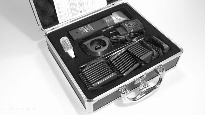 Haarschneider mit Koffer, haarschneidemaschine mit keramikklinge