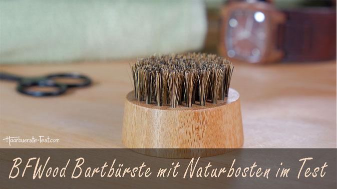BFWood Bartbürste Test: Die BFWood Bartbüste ist klein, rund, günstig und besitzt echte Wildschweinborsten. Wie gut ist sie im Praxis Test?