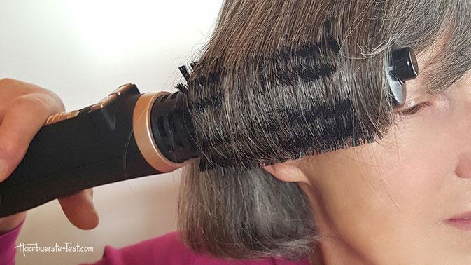 rotierende warmluftbürste für kurze haare, rotierende warmluftbürste für kurze haare test