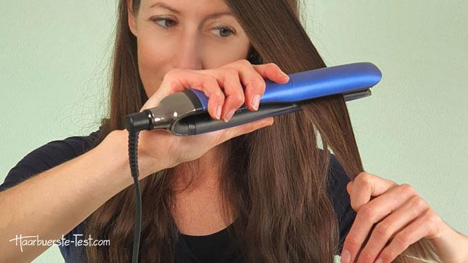 GHD Platinum Plus in den Haaren
