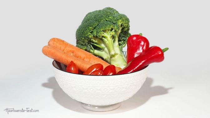 wo ist vitamin a enthalten, lebensmittel die gut für die haare sind, nährstoffe für haare, carotinoide, ß-Carotin, provitamin a