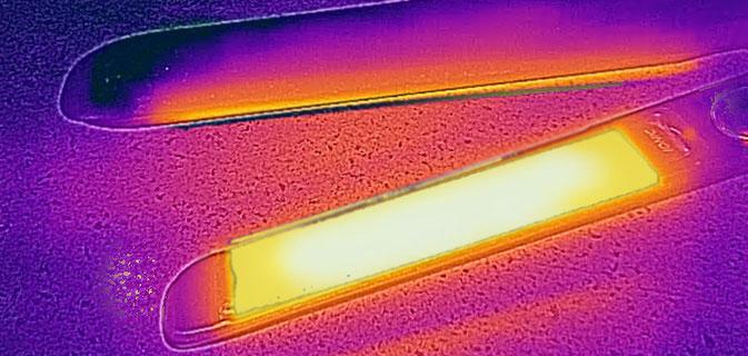Glätteisen mit Hitzeregulierung, wärmebildkamera glätteisen, glätteisen mit wärmebildkamera