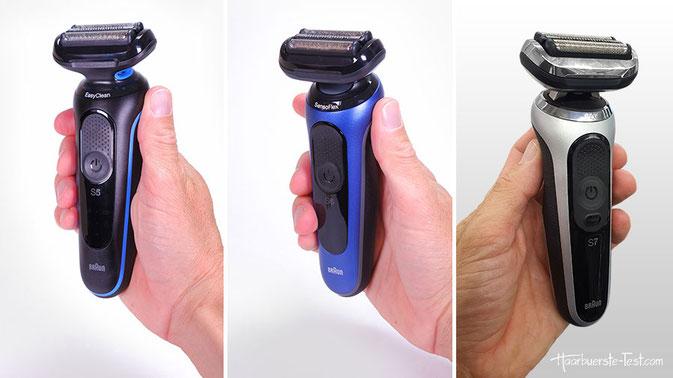 Rasierer Braun mit Barttrimmer