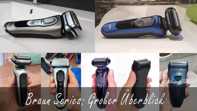 Braun Series: Großer Überblick, Vergleich & Unterschiede der verschiedenen Braun Rasierer Serien