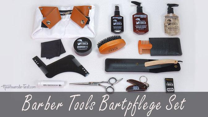 Bartpflege Set mit Rasiermesser im Test: Umfangreiches Barber Tools Bartpflege Set