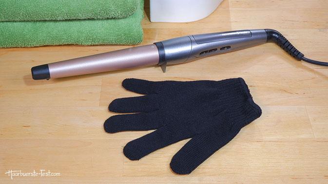 Hitzeschutzhandschuh, Hitzeschutzhandschuh Lockenstab, lockenstab mit handschuh