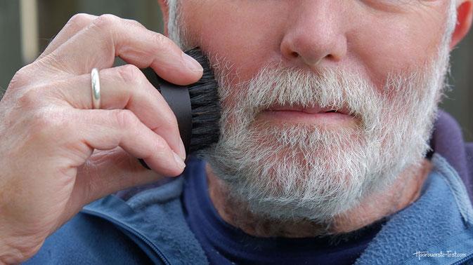 Bart Pflege Bürste, bartbürste richtig benutzen