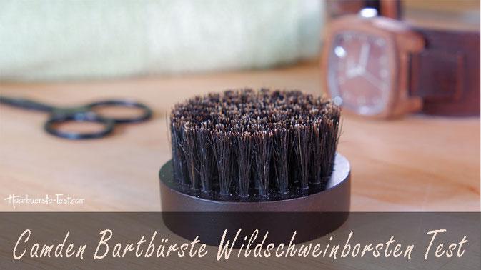 Camden Bartbürste Test: Die Camden Bartbürste ist im Set, gemeinsam mit einem Bartkamm, erhältlich. Wie gut schneidet die Bartbürste mit Wildschweinborsten im Praxis Test ab?