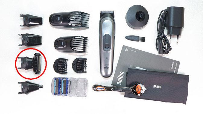 Braun Multigroomer mit Bodygroomer Aufsatz
