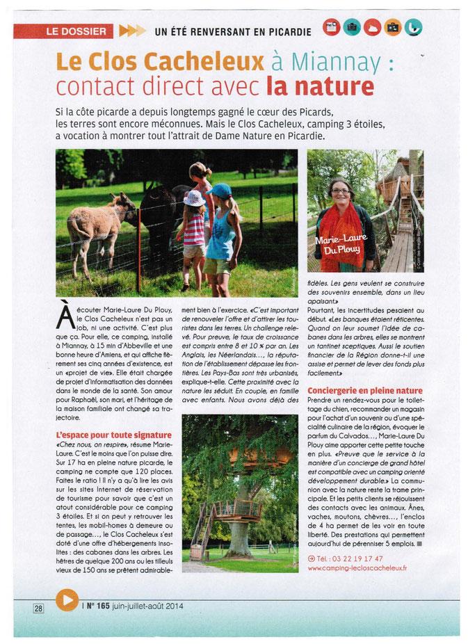 Agir en Picardie avril 2014 Cabanes dans les arbres  du Clos Cacheleux