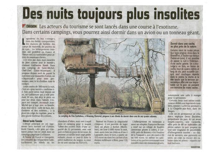 Courrier Picard du 26 07 2014 les arbres  du Clos Cacheleux