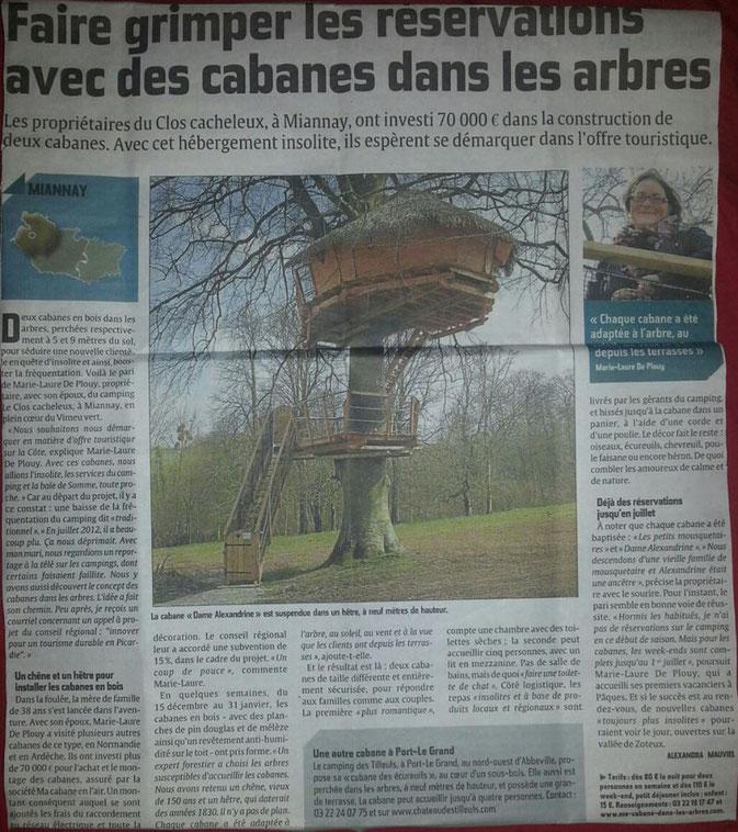 Hébergement insolite en Picardie