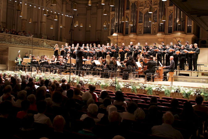 Mein Auftritt in der Tonhalle, anlässlich der Aufführung von Händels Messiah in der Tonhalle Zürich