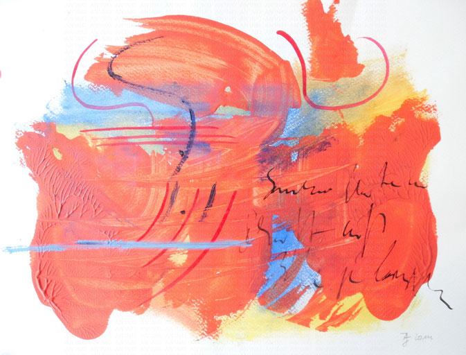 Rot (2014), Acryl auf Aquarellpapier