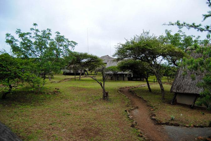 Blick von meiner cabin nr 26 Richtung Haupthaus