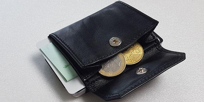Geldbörse von Jaimie Jacobs, Kartenetui mit Münzfach, Kartenetui Leder, Jaimie jacobs geldbörse