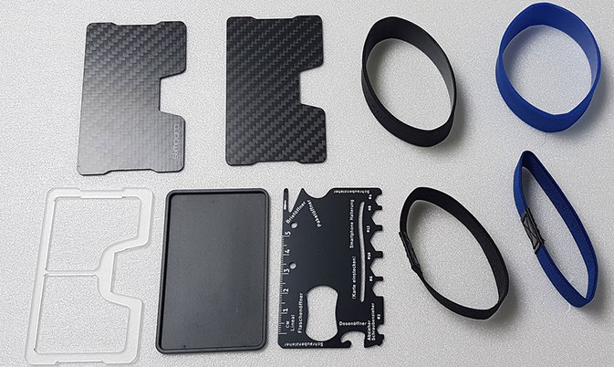 Slimpuro Carbon Card Case Inhalt, Slimpuro Atto Inhalt, Slimpuro Inhalt