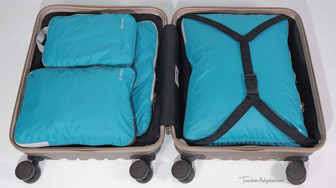 packtaschen koffer test, packtaschen test, organizer koffer, packtaschen koffer